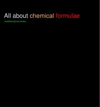 All about chemical formulae