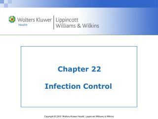 Chapter 22 Infection Control