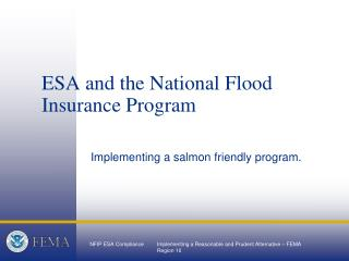ESA and the National Flood Insurance Program
