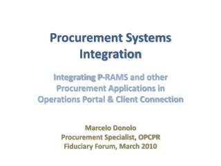Procurement Systems Integration