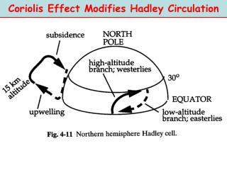 Coriolis Effect Modifies Hadley Circulation