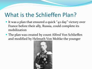 What is the Schlieffen Plan?