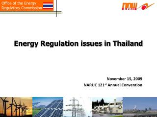 Energy Regulation issues in Thailand