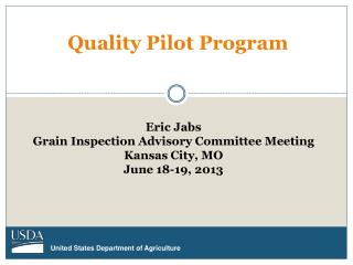 Quality Pilot Program