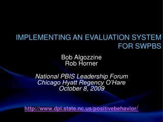 Implementing an Evaluation System for SWPBS