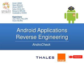 Android  Applications Reverse Engineering