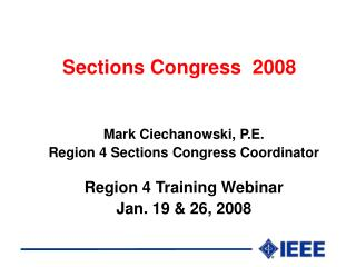 Sections Congress  2008