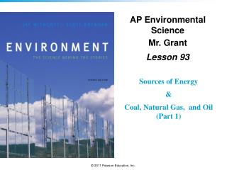 AP Environmental Science Mr. Grant Lesson  93