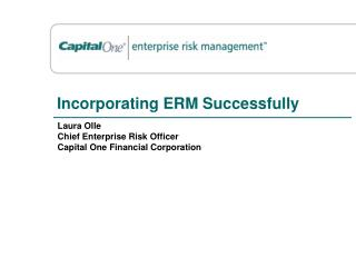 Incorporating ERM Successfully