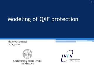 Modeling of QXF protection