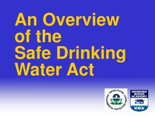 introduction to the safe drinking water act (ppt)