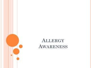 Allergy 			    Awareness