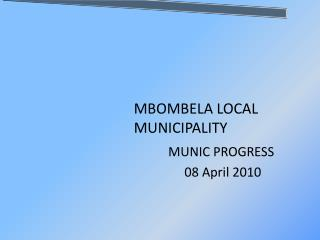 MBOMBELA LOCAL MUNICIPALITY
