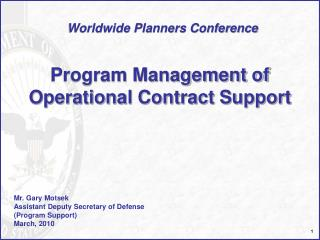 Program Management of Operational Contract Support