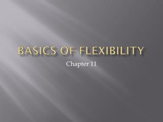 Basics of Flexibility