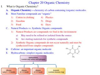 Chapter 20 Organic Chemistry