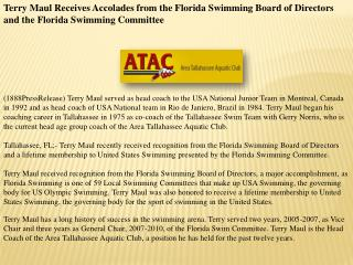 Terry Maul Receives Accolades from the Florida Swimming Boar