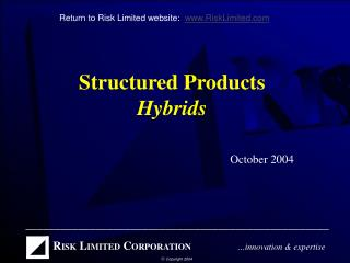 Structured Products Hybrids