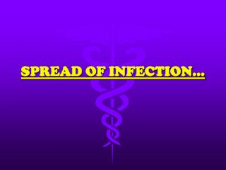 SPREAD OF INFECTION…