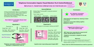 Visual attention not impaired by listening or motor act of speech