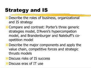 Strategy and IS