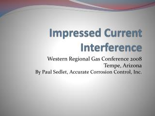 Impressed Current Interference