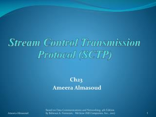 Stream Control Transmission Protocol (SCTP)