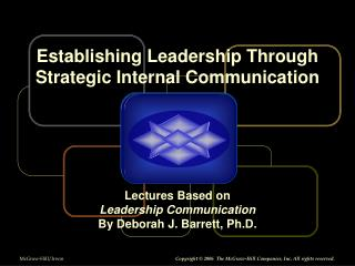 Establishing Leadership Through Strategic Internal Communication
