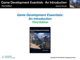 Game Development Essentials:  An Introduction  Third Edition