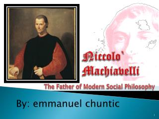 Niccolo ` Machiavelli