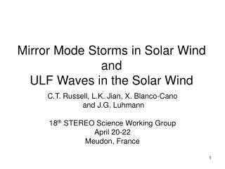 Mirror Mode Storms in Solar Wind and ULF Waves in the Solar Wind