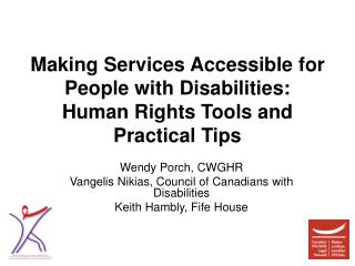 Making Services Accessible for People with Disabilities: Human Rights Tools and Practical Tips