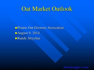 Oat Market Outlook