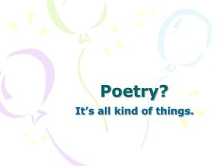 Poetry?