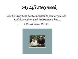 My Life Story Book