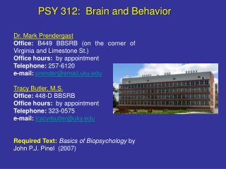 PSY 312:  Brain and Behavior