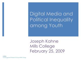 Digital Media and Political Inequality among Youth