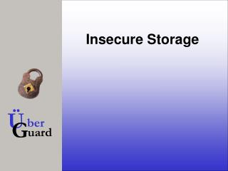 Insecure Storage