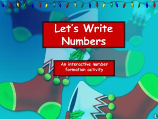 Let's Write Numbers
