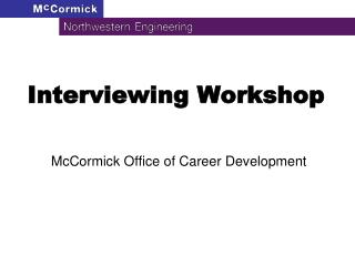 Interviewing Workshop