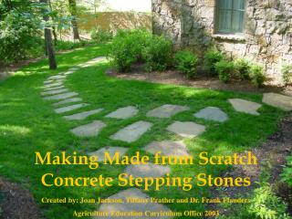 Making Made from Scratch Concrete Stepping Stones