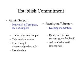 Establish Commitment