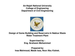 An- Najah  National University College of Engineering Department of Civil Engineering