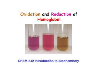 Oxidation  and  Reduction  of  Hemoglobin