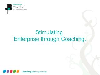 Stimulating  Enterprise through Coaching.
