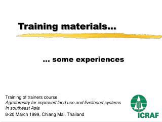 Training materials...