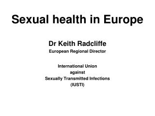Sexual health in Europe