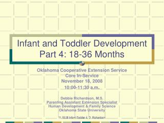 Infant and Toddler Development Part  4: 18-36  Months