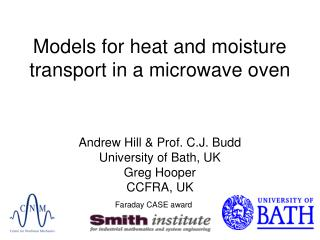 Models for heat and moisture transport in a microwave oven