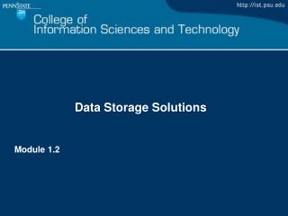 Data Storage Solutions